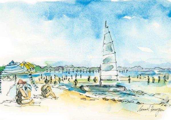 Seaberry-Studio-Art-print-McCrae-Beach-Boat