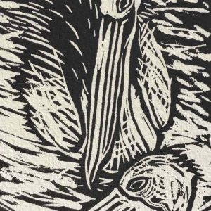 Seaberry-Studio-Lino-print-Two-Pelicans