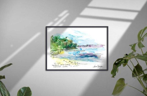 Seaberry-studio-art-print-Rye-Beach
