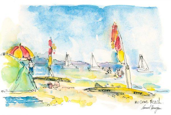 Seaberry-studio-art-print-mccrae-umbrellas
