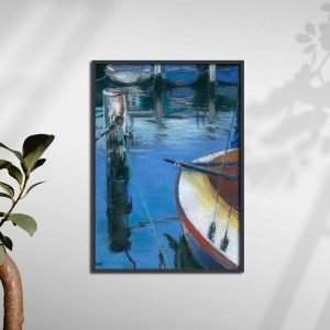 Seaberry-studio-art-print-old-queenscliff-harbour-A2