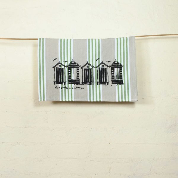 Seaberry-studio-tea-towel-beach-boxes-hang